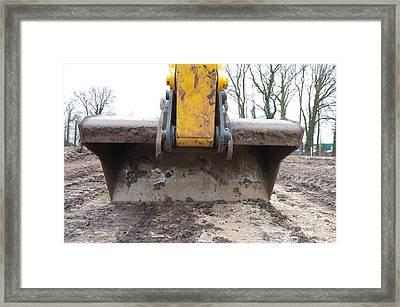 Excavator Framed Print by Hans Engbers
