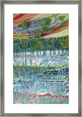 Exotic Landscape  Framed Print