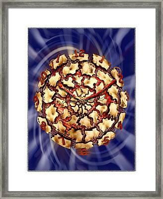 Exploding Clock Framed Print by Mike McGlothlen