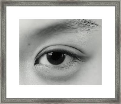 Eye Framed Print by Cristina Pedrazzini