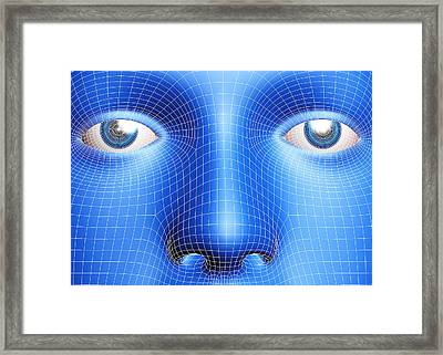 Face Biometrics Framed Print by Pasieka