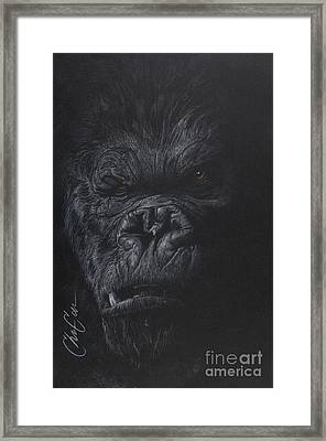 Fade To Black Framed Print by Christian Garcia