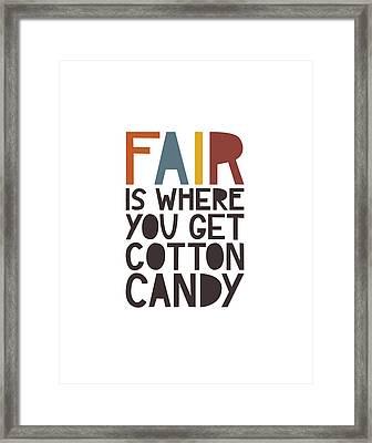 Fair Framed Print by Megan Romo