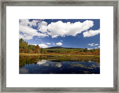 Fall Day At Perkins Pond Framed Print by Gordon Ripley