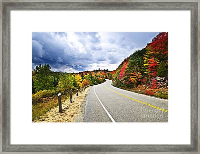 Fall Highway Framed Print