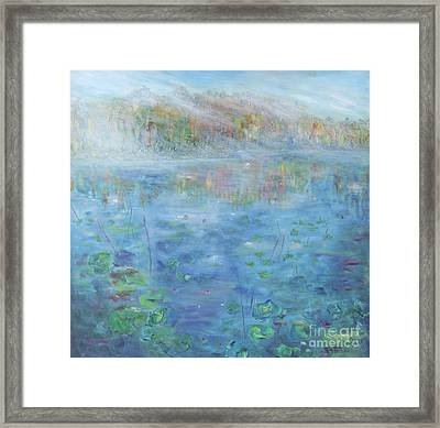 Fall On The Lake Framed Print