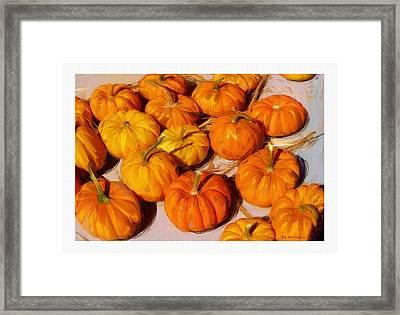 Fall Pumpkins Framed Print by RG McMahon