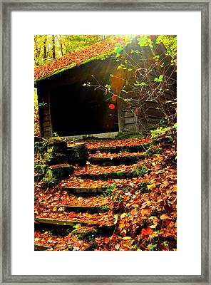 fall time in Ithaca New York.  Framed Print