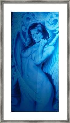 Fallen Angel Framed Print by Chuck Re