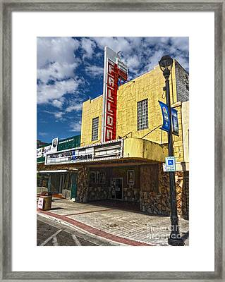 Fallon Nevada Movie Theater Framed Print by Gregory Dyer