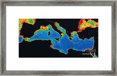 False-col Satellite Image Framed Print by Dr. Gene Feldman, NASA Goddard Space Flight Center