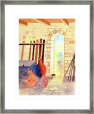Farmhouse Pots Framed Print
