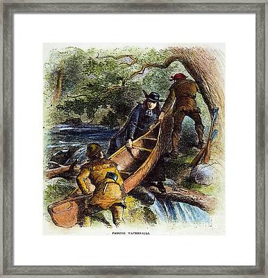 Father Jacques Marquette Framed Print by Granger