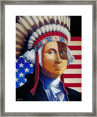 Father Of The Nation Framed Print by Ross Edwards