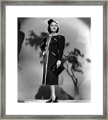 Fay Wray, Columbia Pictures, 1937 Framed Print by Everett