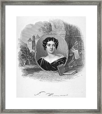 Felicia Hemans (1793-1835) Framed Print by Granger