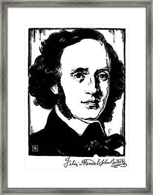 Felix Mendelssohn Framed Print