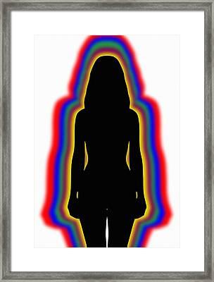 Female Identity, Conceptual Image Framed Print by Victor De Schwanberg