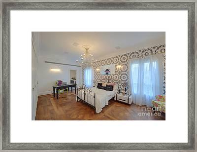 Feminine Decorated Bedroom Framed Print by Noam Armonn