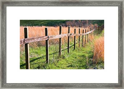Fence Perspective Framed Print by Kristin Elmquist