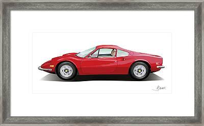 Ferrari Dino Framed Print