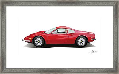 Ferrari Dino Framed Print by Alain Jamar