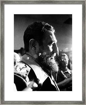 Fidel Castro, In 1974 Framed Print by Everett