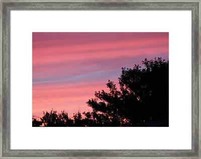 Fiery Sky Framed Print by Amy Holmes