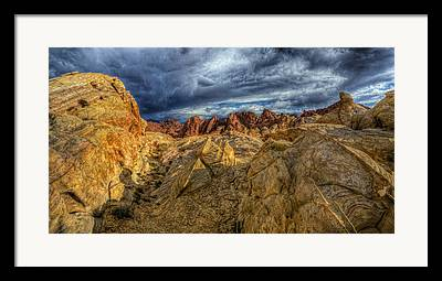 Valley Of Fire Framed Prints