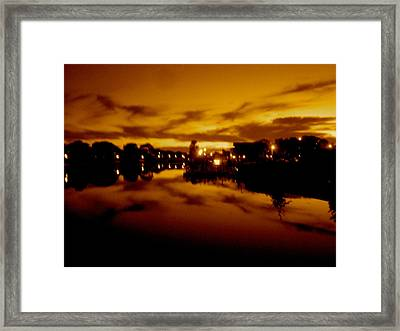 Fire In The Sky Framed Print by Joe  Burns