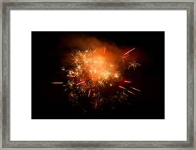 Firework Display At New Year's Eve Framed Print by Olaf Broders