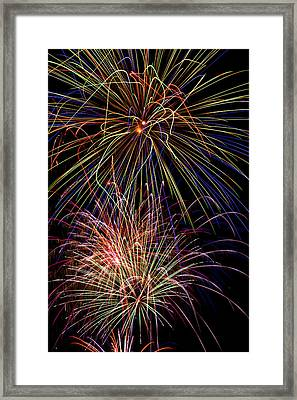 Fireworks Celebration Framed Print by Garry Gay