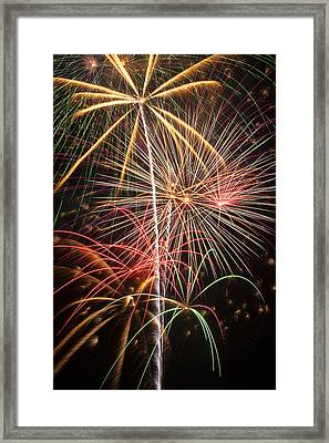 Fireworks Exploding  Framed Print by Garry Gay