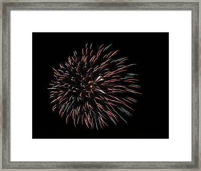 Fireworks Fun 3 Framed Print by Marilyn Hunt