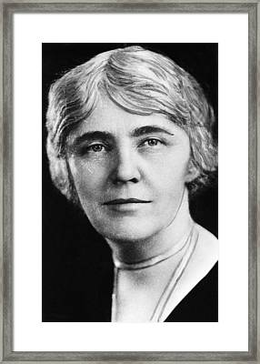 First Lady Lou Henry Hoover 1874-1944 Framed Print by Everett