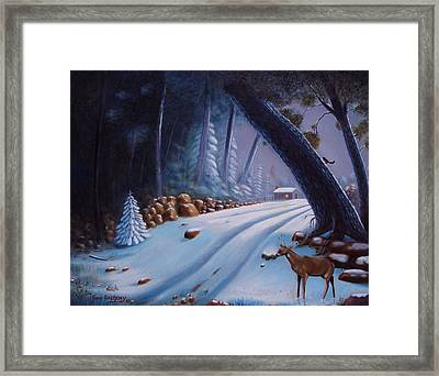 First Snow  Framed Print by Gene Gregory