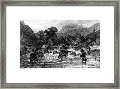 Fishing, 19th Century Framed Print by Granger