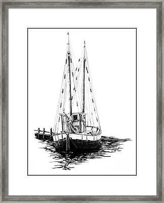 Fishing Boat Framed Print by Kelly Morgan