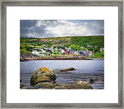 Fishing Village In Newfoundland Framed Print by Elena Elisseeva