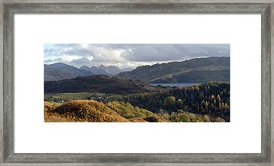 Five Sisters From Above Loch Alsh Framed Print