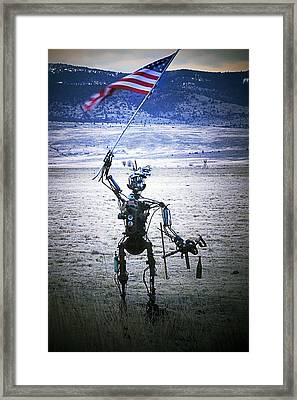 Flag Waver Framed Print by Day Williams