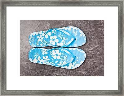 Flip Flops Framed Print by Tom Gowanlock