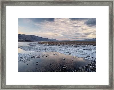 Flooded Salt Flat Framed Print by Bob Gibbons