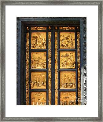 Florence Italy - Baptistry Doors Framed Print