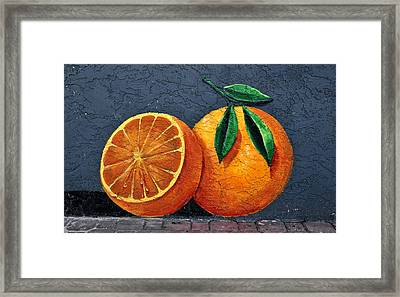 Florida Orange Framed Print by David Lee Thompson