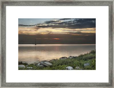 Florida Sunset Framed Print by Cheryl Davis