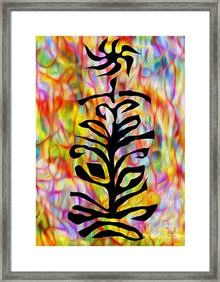 Flower Abstraction Framed Print by Gregory Dyer