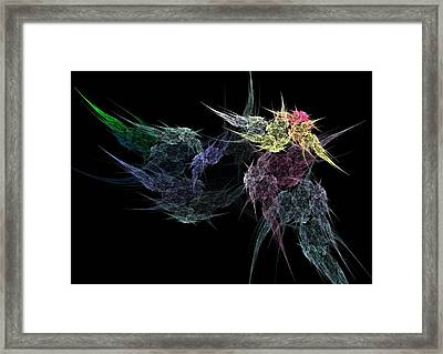 Flower In The Dark Framed Print by Michele Caporaso