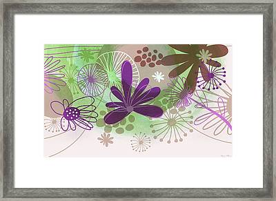 Flowers Of Nature Framed Print by Nomi Elboim