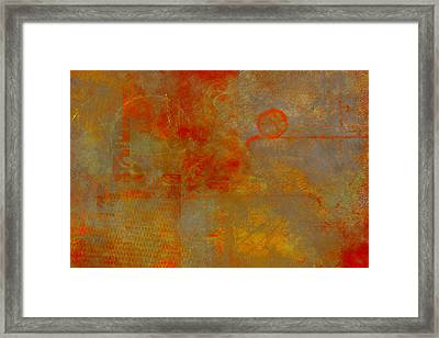 Fluorescent Rust Framed Print by Christopher Gaston